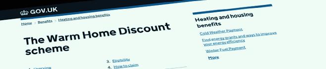 Warm Home Discount - GovUk