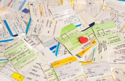 Used train tickets